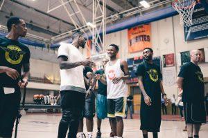 Dashon Enoch Iman Shumpert at Impact Basketball Camp in 2015