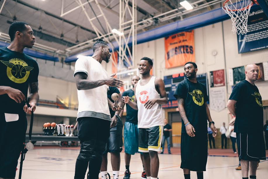 Dashon Enoch Iman Shumpert at Impact Basketball Camp in 2015